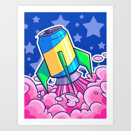 Rocket Soda Art Print