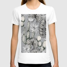 Cactuses with flowers T-shirt