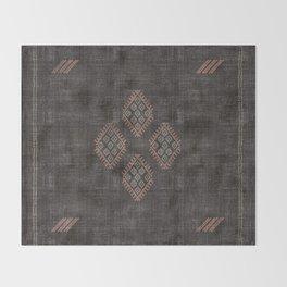 Kilim in Black and Pink Throw Blanket