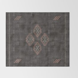 Kilim in Black and Pink Throw Blanket