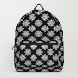 Floral Doily Pattern | Black and White Backpack
