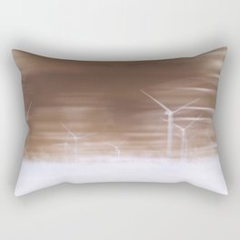 Ghostly wind turbines Rectangular Pillow