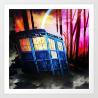 dr who Art Prints featuring dr who by shannon's art space