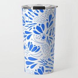 Flora in Blue Travel Mug