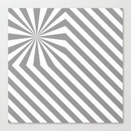 Stripes explosion - Grey Canvas Print