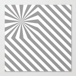 Stripes explosion - Grey Canvas Print