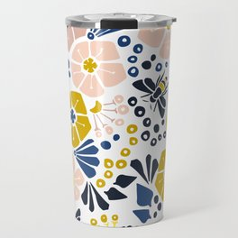 Flower meadow with bees Travel Mug