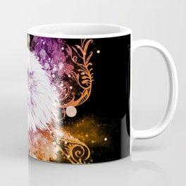 Awesome eagle with flowers Coffee Mug