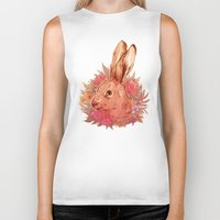 hare Biker Tanks featuring Hare by batcii