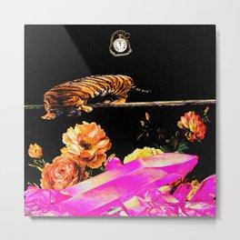 Tiger in Space Metal Print