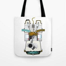 Exhaust Stroke Tote Bag