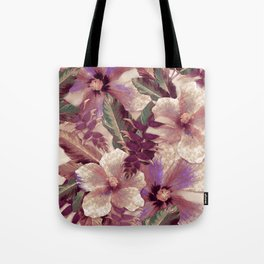 Antiqued Garnet Ginger Aloha Tote Bag