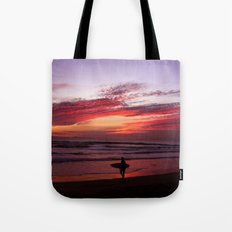 California Beach Sunset Tote Bag