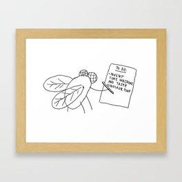 Dinosaur Poop Framed Art Print
