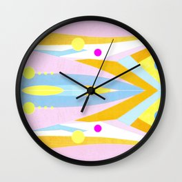 Abstract Pastel Pattern Wall Clock