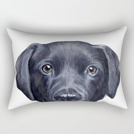 Labrador with white background Dog illustration original painting print Rectangular Pillow