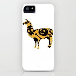 Halloweeen llamam iPhone Case
