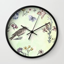 Nature is a temple Wall Clock