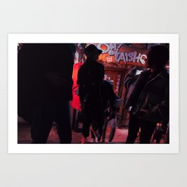 People on a Night Event, A Art Print