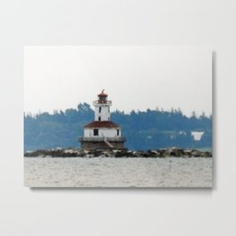 Indian Head Lighthouse from across the Bay Metal Print