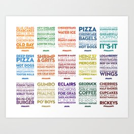 Delicious City Prints: City Grid Art Print