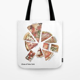 Slices of New York Tote Bag