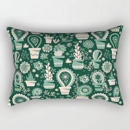 Paisley succulents Rectangular Pillow
