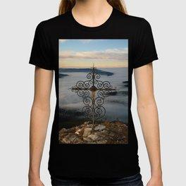 Wrought Iron Cross on Blassenstein Mountain, Austria T-shirt