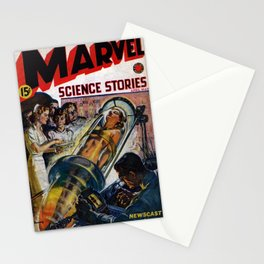 Science Stories / comic magazine cover Stationery Cards