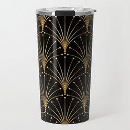 Gold and black pattern. Luxury background Travel Mug