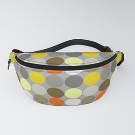 Mid-Century Giant Dots, Gray, Gold and Orange Fanny Pack