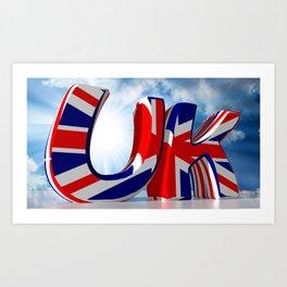 UK - United Kingdom Art Print
