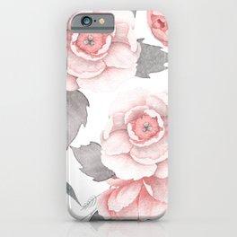 Blush Peonies iPhone Case