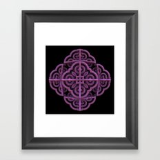 Purple Emblem Framed Art Print