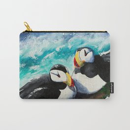 Puffins - Always together - by LiliFlore Carry-All Pouch