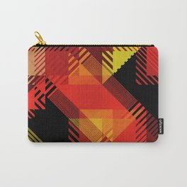 Fall Color Multi Pattern Design Carry-All Pouch