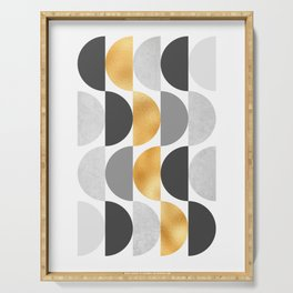 Geometrics Collection - Golden Circles Serving Tray