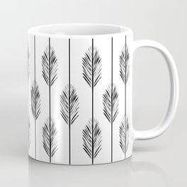 Black and White Redwood Leaf Coffee Mug