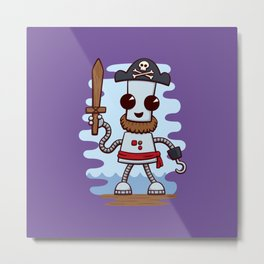 Pirate Ned Metal Print