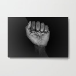 Fists of Rebellion Black and White Art Photographic Print Metal Print