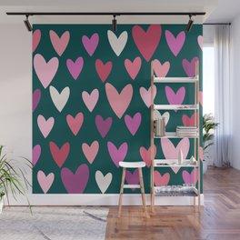 Hearts print conversational Wall Mural