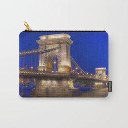 Historic Széchenyi Lánchíd Chain Bridge Across Danube River Budapest Hungary Europe Ultra HD Carry-All Pouch