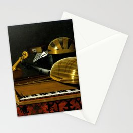 Bartholomeo Bettera Still Life with Musical Instruments and Books Stationery Cards