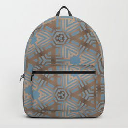 Beige and Blue Contemporary Tribal Pattern Backpack