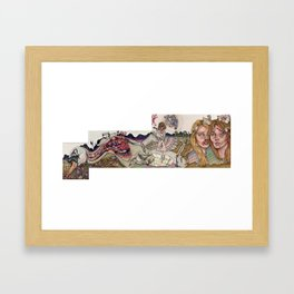 The Indifferent Beak (After Leda) Framed Art Print