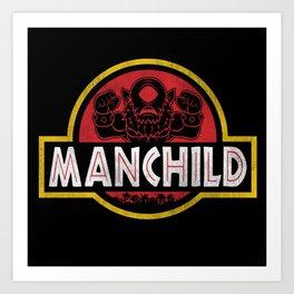 Manchild Park Art Print