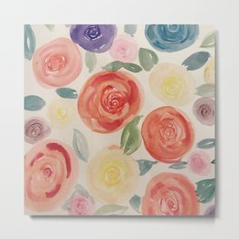 Simplicity Rose Metal Print