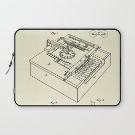 Type Writing Machine-1868 Laptop Sleeve
