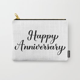 Happy Anniversary calligraphy lettering Carry-All Pouch
