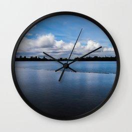 One dredging lake in Germany Wall Clock